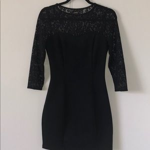 Lace long sleeve cocktail dress